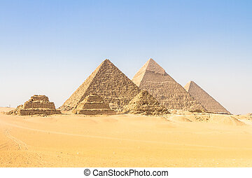偉人, エジプト, カイロ, ギザピラミッド, 谷