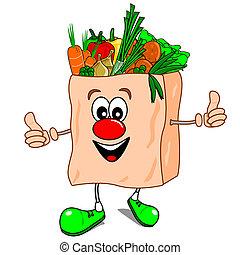 健康な 食べること