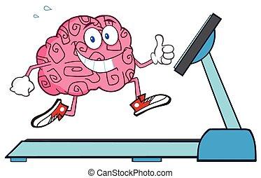 健康, 脳, 動くこと, treadmil