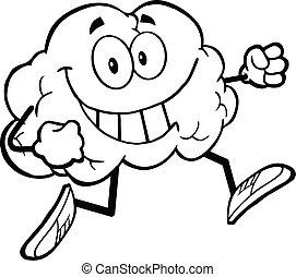 健康, 脳, 概説された, ジョッギング