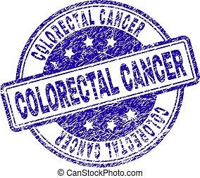 傷付けられる, がん, 切手, textured, colorectal, シール