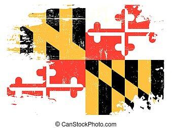 傷付けられる, メリーランドの旗