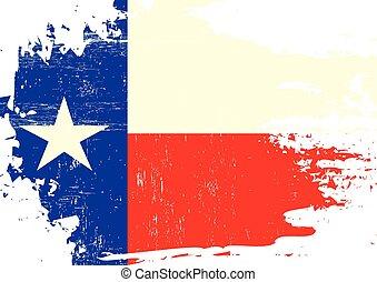 傷付けられる, 旗, テキサス