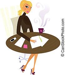 働く女性, 仕事, オフィス