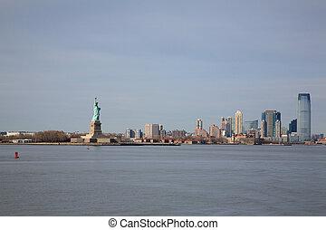 像, マンハッタン, 自由, 光景