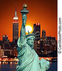 像, 都市, ヨーク, 自由, 新しい