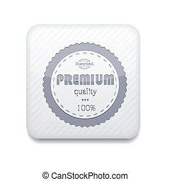 優れた, 編集, eps10., ベクトル, 容易である, 白, 品質, icon.