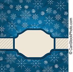 優雅である, クリスマスカード, 雪片