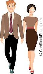 優雅である, スタイル, 恋人, ビジネス服
