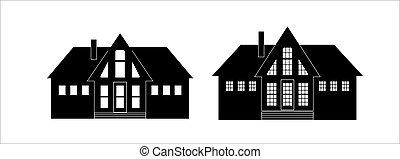 光景, 前部, 黒, 外面, ホワイトハウス, 住宅の
