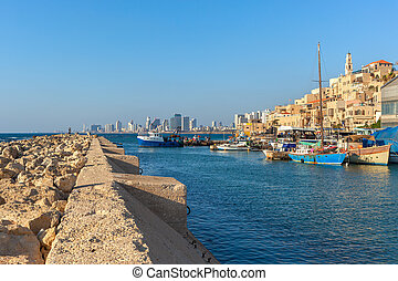 光景, jaffa, 古い, israel.