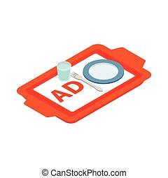 光線, シート, 広告, アイコン