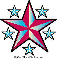 入れ墨, デザイン, 芸術, 星, クリップ