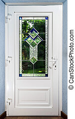 入口, ドア, tiffany, 加鉛, pvc, 窓ガラス