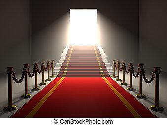 入口, 赤いカーペット