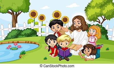 公園, イエス・キリスト, 子供
