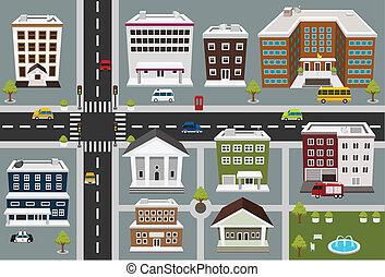 公衆, 地図, 区域, サービス