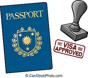 公認, -, ビザ, パスポート