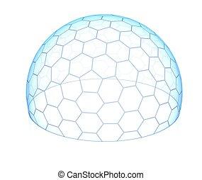 六角形, 透明, ドーム
