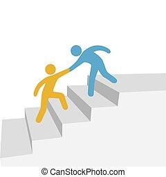 共同, 進歩, 友人, 助け