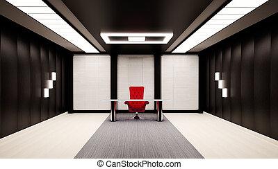 内部, オフィス, 3d