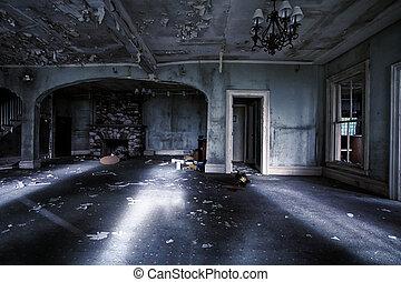 内部, 家, 捨てられた