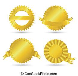 円形浮彫り, 金