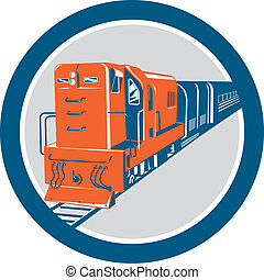 円, 列車, ディーゼル, レトロ
