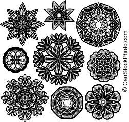 円, 抽象的, セット, patterns., レース