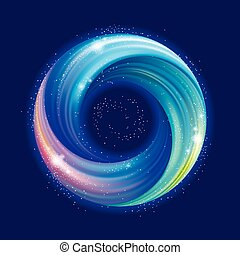 円, 渦巻, バックグラウンド。, カラフルである, 抽象的