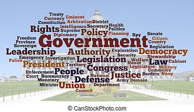 写真, 単語, 雲, 政府