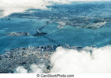 写真, francisco, 航空写真, san