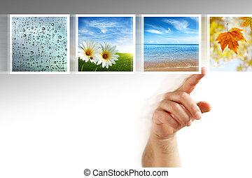 写真, touchscreen