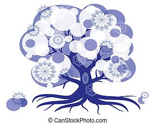 冬の 木, 抽象的