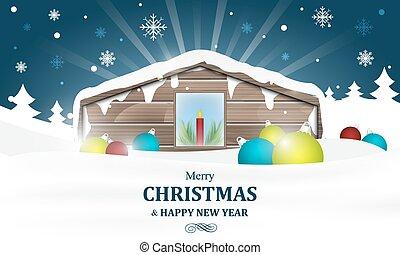 冬, 燃焼, 蝋燭, 冷静, 家, クリスマス。, 国