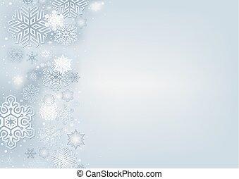 冬, 背景, 雪片