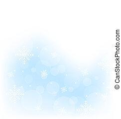 冬, 雪片, 背景, クリスマス