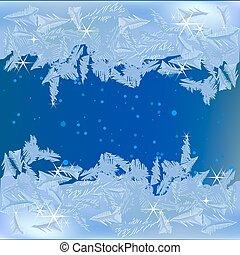 凍らせられた, 窓, 霜