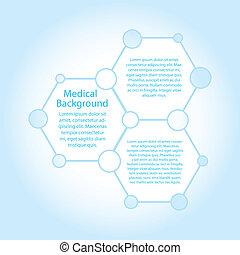 分子, (vector), スペース, 抽象的, 背景, コピー, 医学