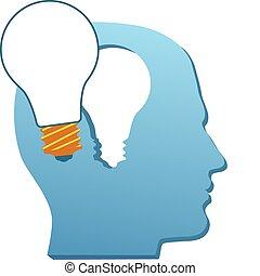 切口, ライト, 心, 発明, 電球, 人, 考えなさい, から