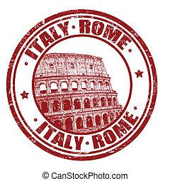 切手, イタリア, ローマ
