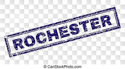 切手, グランジ, ロチェスター, 長方形