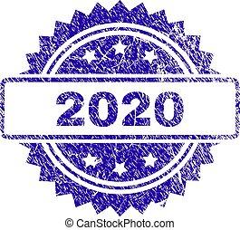 切手, グランジ, 2020, シール