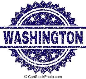 切手, グランジ, textured, ワシントン州のシール