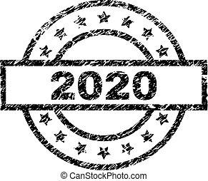 切手, グランジ, textured, 2020, シール