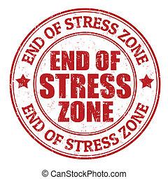 切手, ストレス, 終わり地帯