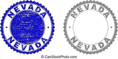 切手, ネバダ, グランジ, textured, シール