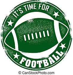切手, フットボール, 時間