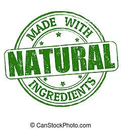 切手, 作られた, 自然, 原料