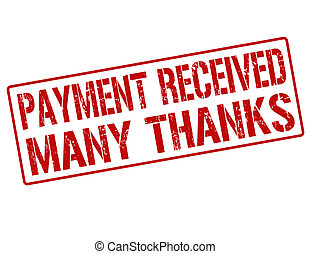 切手, 受け取られた, 多数, ありがとう, 支払い